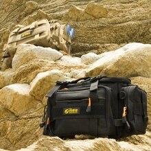 DOSECCA 40 * 20 * 18cm Fishing Bag Multi-function Fishing Tackle Bag Waterproof Canvas Waist Fishing Lure Bag Shoulder