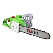 Пила цепная электрическая RedVerg RD-EC2000-16 (Мощность 2000 Вт, длина шины 40 см, шаг цепи 3/8'', толщина звена 1.3 мм, 57 звеньев, поперечное расположение, 6 кг)