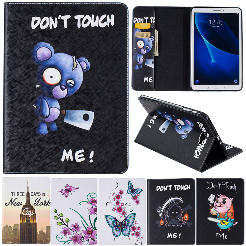 Cartoon Leather Cover For Samsung Galaxy Tab A A6 10 1 2016 T585 T580N Tablet Case