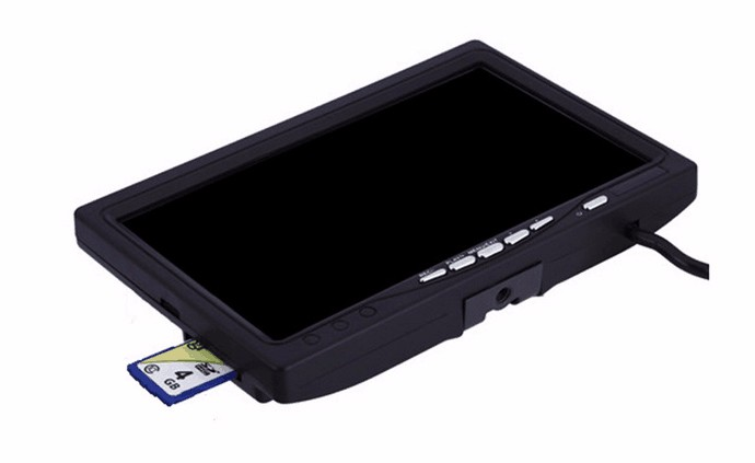 Eyoyo Single 7 LCD Monitor with Recording Function DVR for Eyoyo Fish Finder Fishing Camera sky 708 40ch 7 monitor hdmi input and diversity rx dvr ppm function