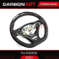 LED race display Steering wheel for E92 E93 LCD screen guage meter LED racing steering wheel carbon fiber 2005+