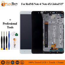 For Xiaomi Redmi Note 4 MediaTek LCD Display + Frame note4 Helio X20 Digitizer Touch Screen Spare Parts