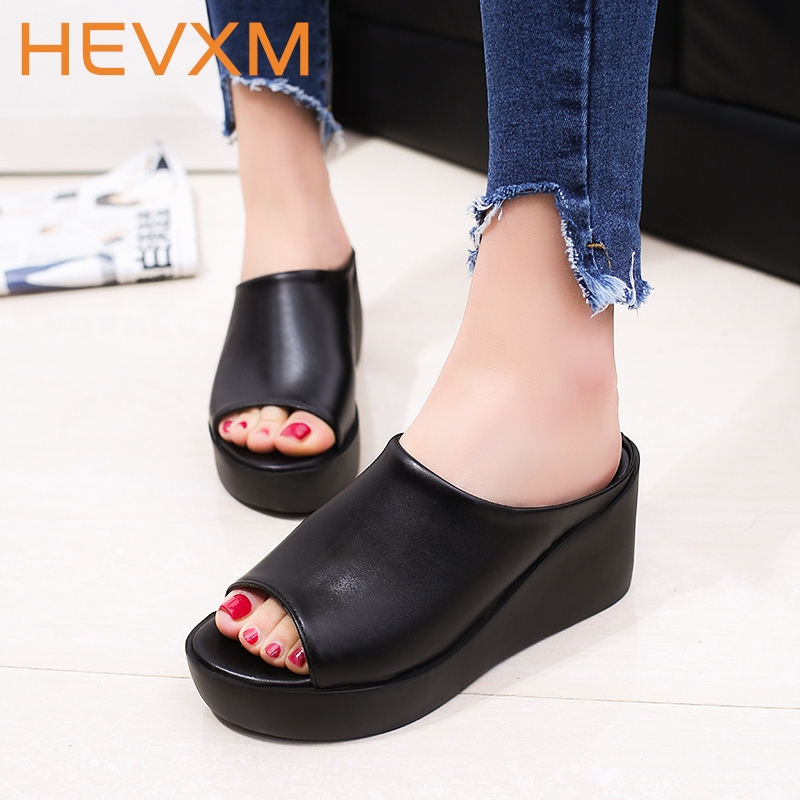 Hevxm summer new woman thick bottom slippers hot sale for Womens fishing shoes