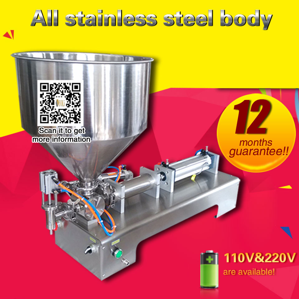 Paste Filling Machine  Liquid Filling Machine For 10/50/100/500/1000/2500/5000 Ml Bottling Machine For Liquid Or Cream