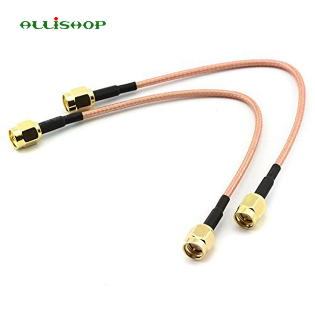 ALLiSHOP SMA Male To SMA male RG316 cable assembly Jumper Pigtail 5cm/10/15/30/50cm/1m SMA plug Crimp FPV RG316 Cable 50ohms