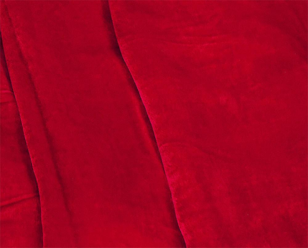 Red Color Best Quality Silk Velvet Fabric Material For Dressmaking