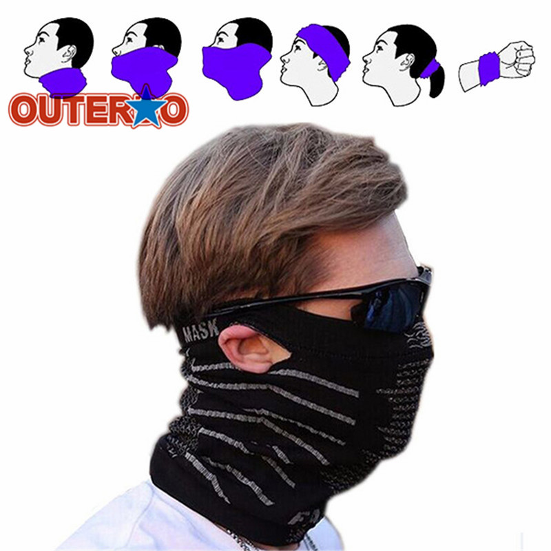 OUTERDO Multifunction Magic Scarf Face Protection Bicycle Mask Warm Cycling Face Mask Windproof MTB Mountain Bike Scarf Mask outerdo 100