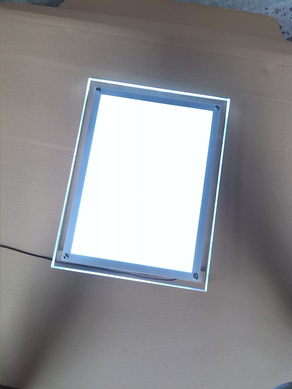 A3 SIZE CRYSTAL FRAME LED PRICE LIST MENU LIGHT BOX FREE STAND WITH ...