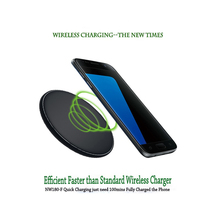 [UGPine Qi Fast Wireless Charger]9V/1.8A Quick Wireless Charging Pad for Samsung Galaxy S6 S6Edge Plus S7/S7 Edge Note5 Note7