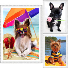 5D Diy diamond painting cross stitch cartoon FULL  rhinestones embroidery arts and crafts dog picture