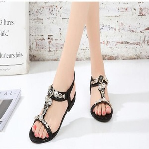 Image 4 - BEYARNESize 34 45 Retro Bohemian รองเท้าแตะเพชรสำหรับสตรี Retro ลูกปัด Serpentine สบายๆรองเท้าแตะสำหรับ womenE543