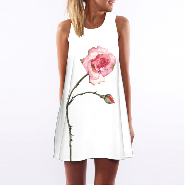 Sleeveless Above Knee Summer Dress