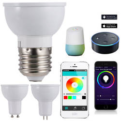 WiFi умная Светодиодный лампа RGBW контроль времени затемненная лампа для Amazon Alexa и Google Home MDJ998