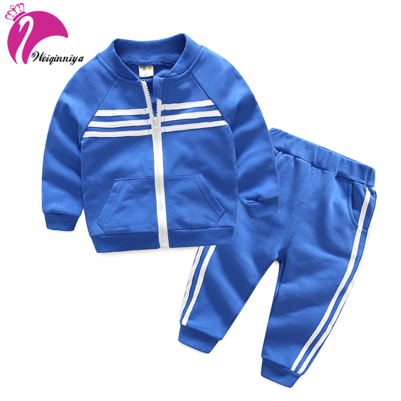 Baby Boy Autumn Clothes Girl Warm Cotton Clothing Set For Kid Solid Jackets Pant 2pcs Fashion Children Sports Suit