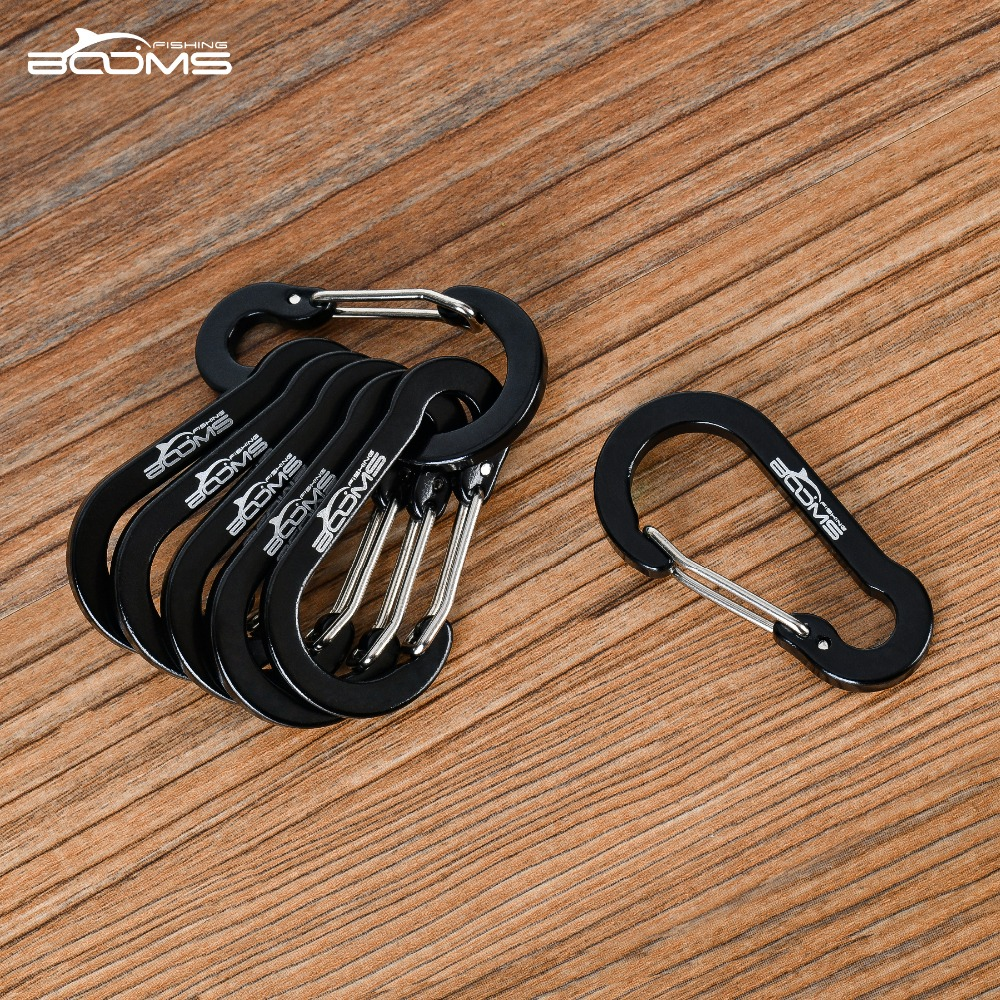 Image 4 - Booms Fishing CC1 6Pcs Aluminum Alloy Carabiner Keychain Outdoor Camping Climbing Snap Clip Lock Buckle Hook Fishing Tool 6Color-in Climbing Accessories from Sports & Entertainment
