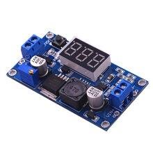 DC-DC xl6009 digital intensifica o módulo de fonte de alimentação ajustável 4.5-32 v a 5-52 v regulador de tensão step-up com voltímetro led