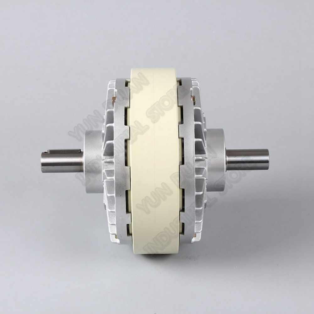 כפול פיר מגנטי אבקת מצמד 25Nm 2.5kg DC 24V הכפול 2 ציר מתפתל בלם לבקרת מתח תיק הדפסת צביעה מכונה