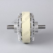 Double Shaft Magnetic Powder Clutch 25Nm 2.5kg DC 24V  Dual 2Axis Winding Brake for Tension Control Bag Printing Dyeing Machine
