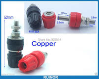 2PCS High Quality 80A Copper Binding Post For Speaker Power Terminal Banana Plug