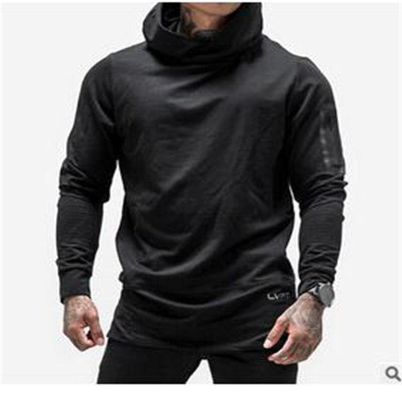 2017 New muscle/brothers casual fleeces with hood male side zippers sweatshirt plus size xxxl
