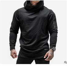 2016 New   muscle/brothers casual fleeces with hood male side zippers sweatshirt plus size xxxl