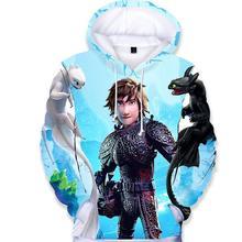 Новинка года, лидер продаж, Детская футболка «Как приручить дракона», 3 футболки детские толстовки с капюшоном и 3D-принтом высококачественная одежда для мальчиков и девочек