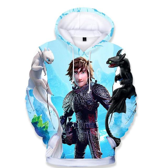 2019 New Hot childen How To Train Your Dragon 3 T Shirt kids 3D Print Hoodies Sweatshirt High Qualiet Chothing For Boys Girls