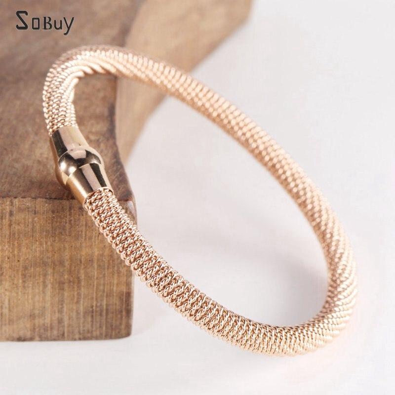 Luxury Mesh Surface Cuff Women Bracelets&Bangles New Brand Designer Charm Bracelets Female Stainless Steel Jewelry