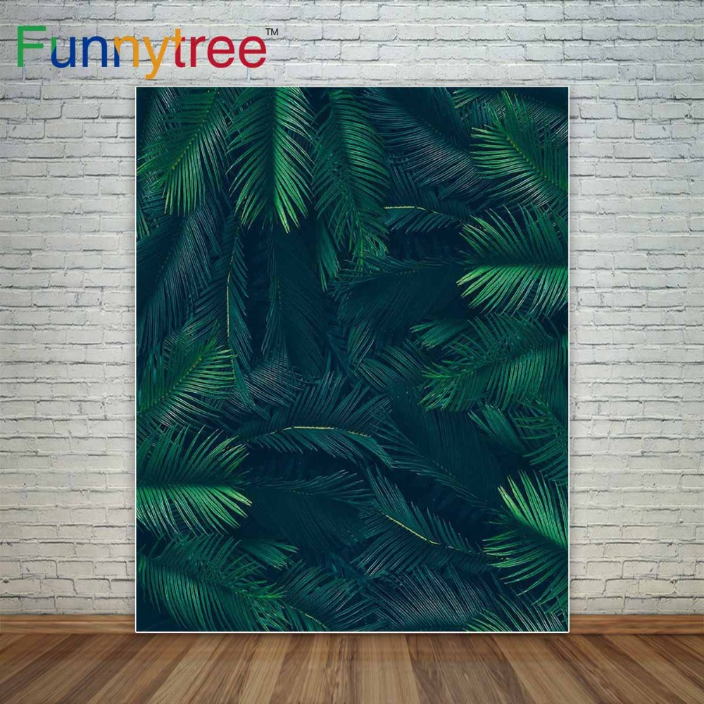 Funnytree photo background for studio Jungle leaf tropical party birthday summer baby backdrop decoration photography photocall