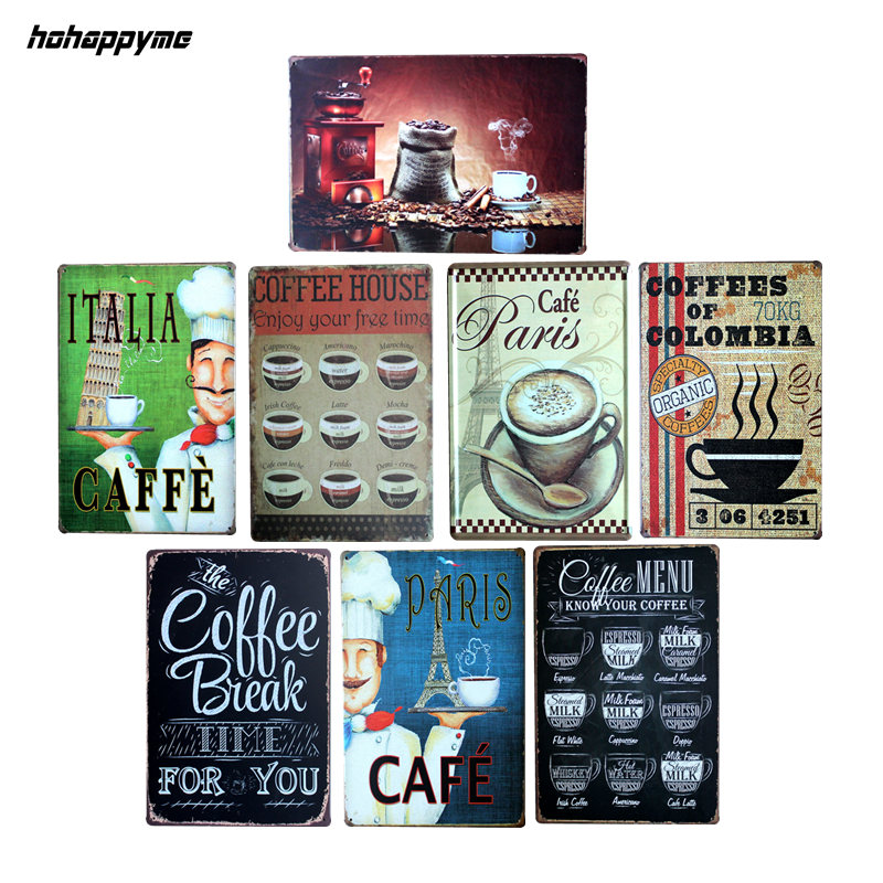 COFFEE MENU KNOW YOUR COFFEE Metal Tin Sign Coffee Pub Club Gallery Poster Tips Vintage Plaque Wall Cafe Decor Plate 20*30CM