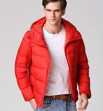 Человек Зимой Толстые Повседневная Зимняя Куртка Утка Вниз Parka Короткие Мужской Пальто Твердые Теплые Пальто Парки Мужская