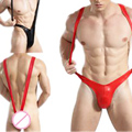 sexy men thongs bodysuit penis sheath body stocking jumpsuit leather lingerie underwear V type strap pajamas beach suit