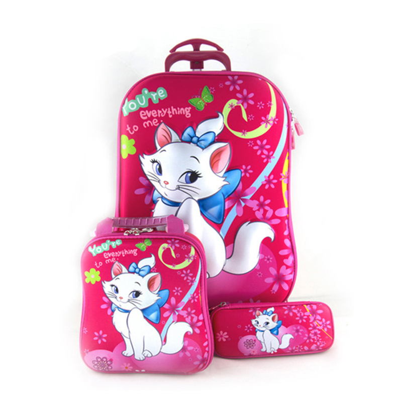 d917fb102b18 US $39.26 49% OFF|Trolley Case Kids Climb The Stairs Luggage Travel Rolling  Suitcase Girl Cartoon Pull Rod Box Child Pencil Box Kids School Bag-in ...