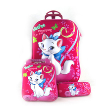 Trolley Case Kids Climb The Stairs Luggage Travel Rolling Suitcase Girl Cartoon Pull Rod Box Child Pencil Box Kids School Bag cartoon cute pull rod box college student luggage small fresh luggage box korean version password box