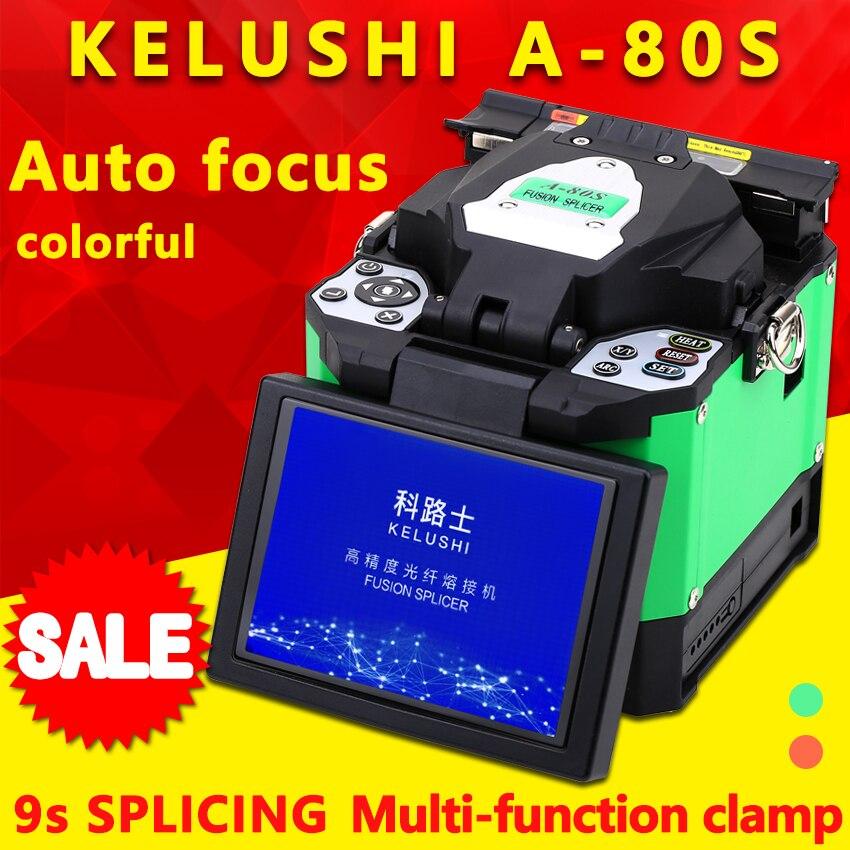 FTTH Automatic Optical Fiber Fusion Splicer Machine Electrode A 80S Fiber Optic Splicers Welding Splicing Machine
