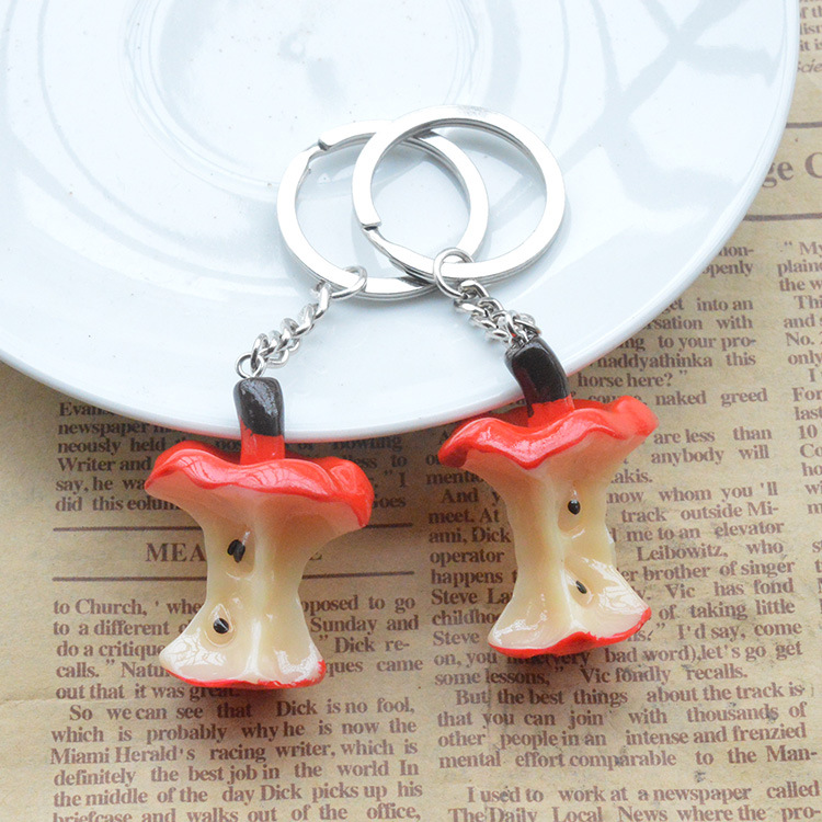 1PCS Cute Mini Simulation Food Key Chain Resin Cake Keychain Gift Pendant Accessories Keyring Jewelry YS-261