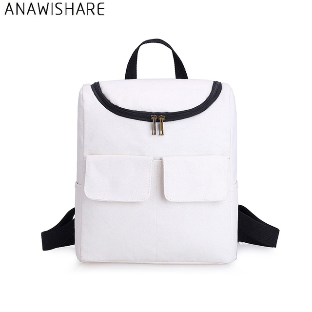 8428f90f6c ANAWISHARE Women Backpacks Canvas School Bags For Teenagers Girls Laptop  Bookbags School Backpacks Mochila Feminina
