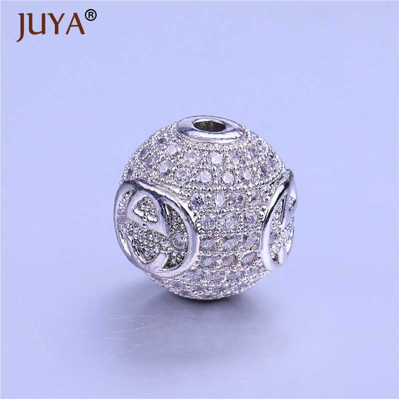 ... Beads For Jewelry Making Top Quality Copper Metal Inlay AAA Cubic Zirconia  Rhinestone 12mm Round Beads ... 0065536672d2
