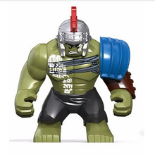 Single Sale diy Big Hulk Action Dolls Marveled Super heroes Newest Thor figures Legoingly Building Blocks Toys For Children gift