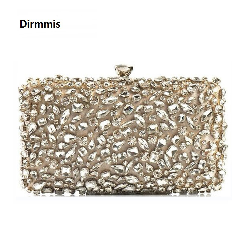 2018 New Wallet Women evening bag Noble luxury fashion handbags handmade  glass diamond woman Dinner Clutch vintage evening bag 56f440f9d8ef