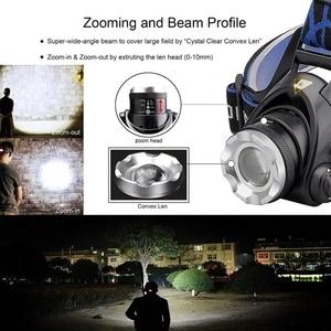 Image 5 - Faro LED potente para pesca, linterna de cabeza impermeable con enfoque de 3 modos T6/L2/V6, 18650