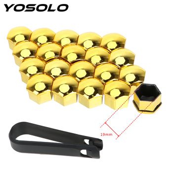 YOSOLO 20 Pieces Car Wheel Nut Caps 17mm/19mm Auto Trim Tyre Nut Bolt Auto Hub Screw Cover Protection Covers Caps image