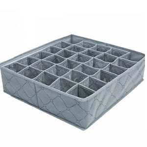 Image 4 - Organizer Portable 30 Grid Foldable Storage Box For Home Gadget Non woven Storage Bra Underwear Socks Finishing Box Organizador