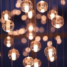 LED G4 Cristal de La Lámpara Colgante de Cristal Lluvia de Meteoros lluvia de Meteoritos Bar Escalera Droplight Araña de Iluminación AC110-220V