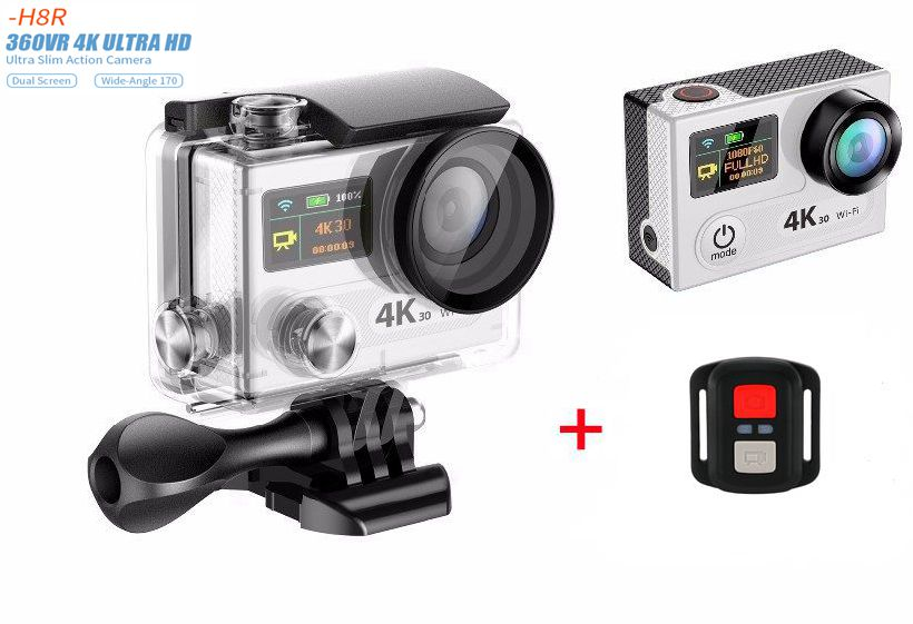 New H8R H8 VR360 Ultra HD 4K WIFI Sport Action Camera with remote control Dual Screen 2 LCD Waterproof Helmet Camcorder DV DVR free shipping mini wifi 2 0 dual lcd helmet cam camera waterproof sport dv h8se remote controller ultra 4k