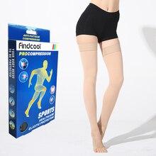 Yisheng meias de compressão uso médico, veias de compressão varicosas de pressão alta acima do joelho meia de compressão para mulheres e homens
