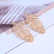 Bohopan Bohemia Vintage Leaves Dangle Earrings Gold/Silver Color Drop Earrings For Women New Summer Earings Fashion Jewelry 2019 new ethnic bohemia dangle drop moonstone earrings for women tibetan silver earring vintage earings fashion jewelry party gifts