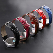 Genuine Leather Watchband 18mm 20mm 14mm 22mm 16mm12 Wrist Watch Strap For Women Men High Quality Red Colors Watchbands Bracelet
