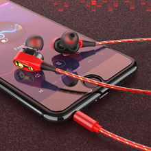 3.5mm Super Bass Sound Earphone Dual Unit Stereo Wired Headphone earphones with microphone Headset For Computer MP3 Smartphone стоимость
