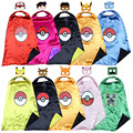 Capa + máscara ceniza pokemon Pokemon pikachu traje traje niños del cabo VAYA traje holloween cosplay costume birthday party Favors
